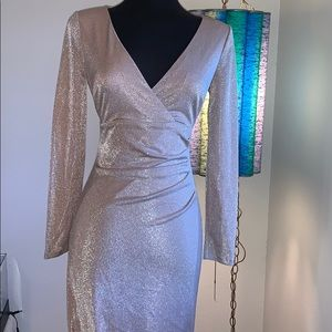 Vince Camuto metallic surpluses gown Blush 4